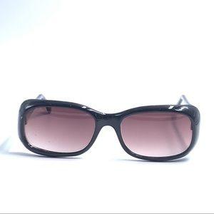 Oscar De La Renta Black Oval Sunglasses